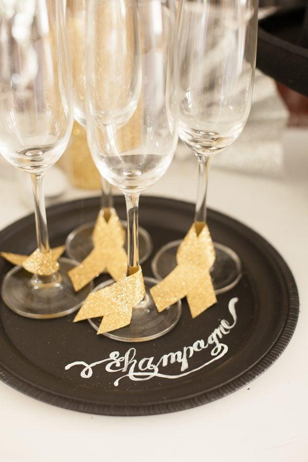 new years eve- #newyearseve #champagne #chalkboard