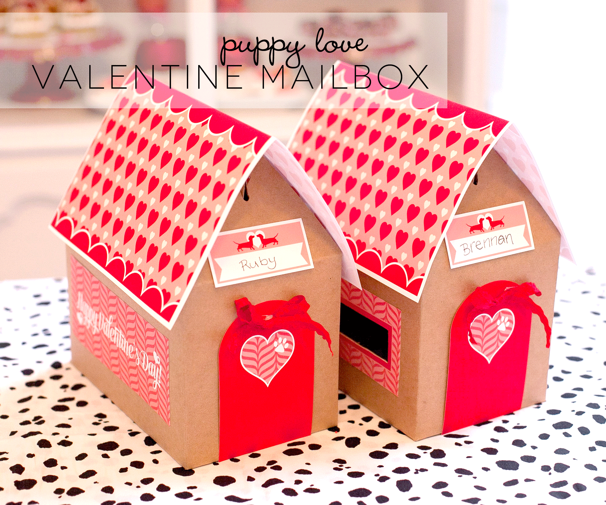 Free Printable Valentines Day Mail Boxes Frog Prince Paperie – Valentine Card Boxes to Make