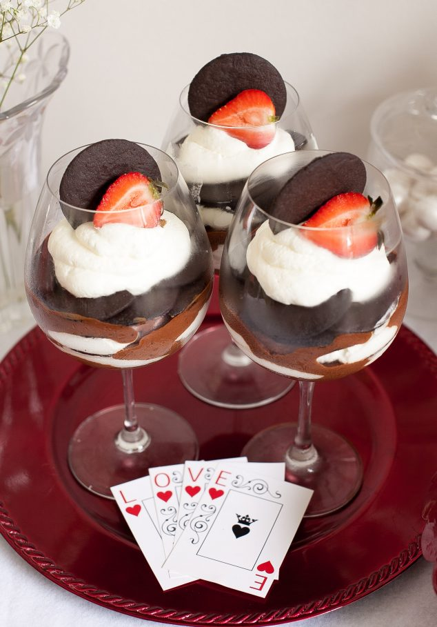 Valentines Day night in ideas - romantic desserts
