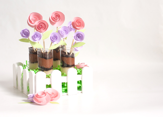 Silk Blooming Chocolate Coconut Pudding Desserts