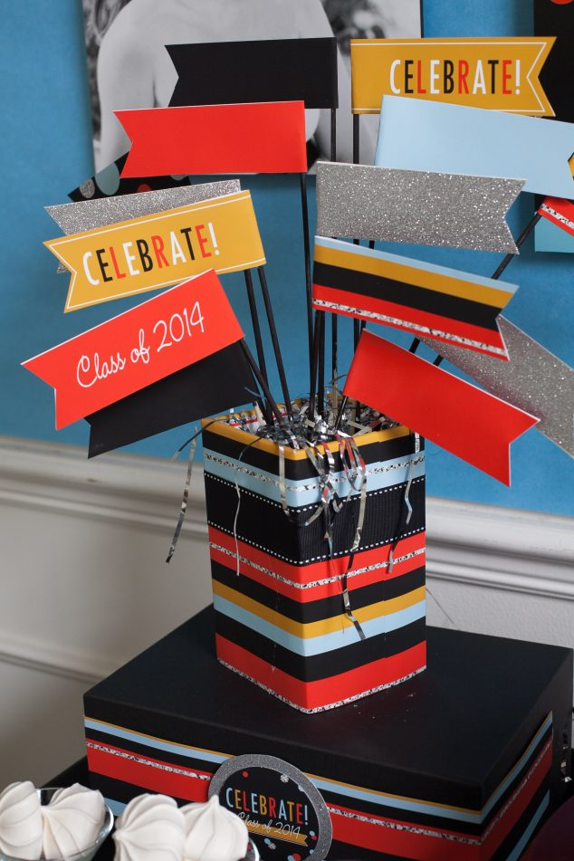 graduation-party ideas-centerpiece