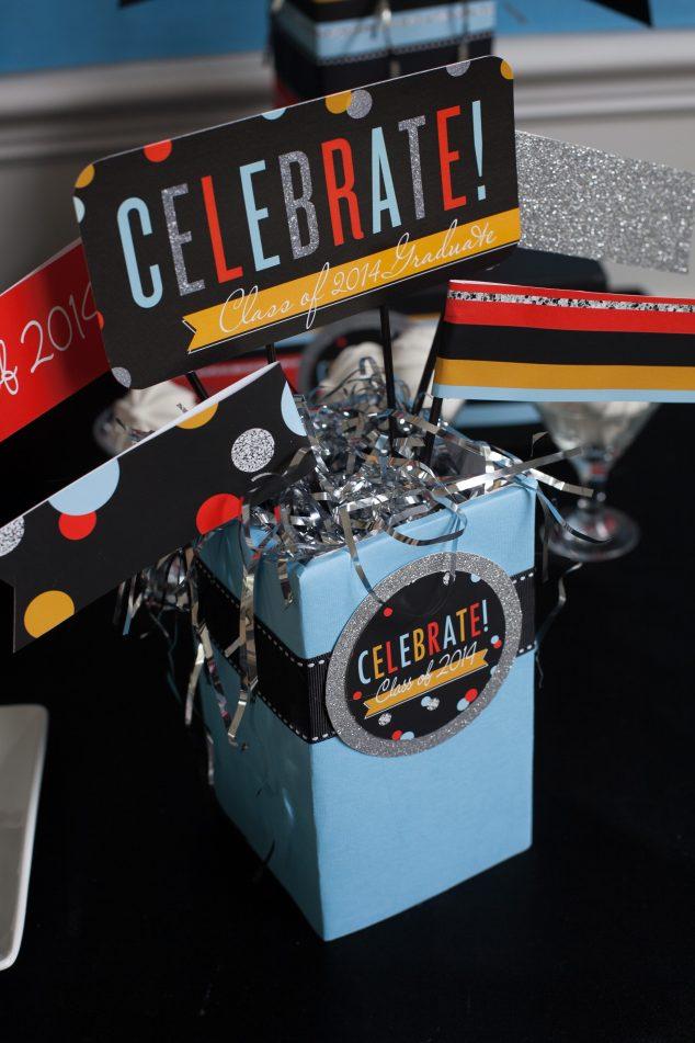 graduation-party ideas-centerpiece