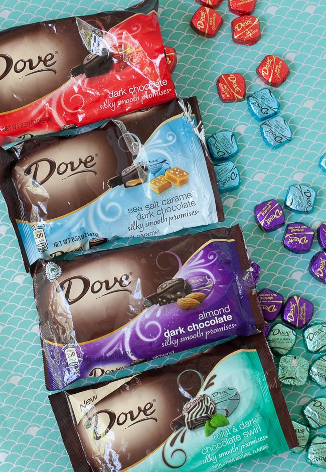 Dove chocolate varieties for crafting