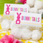 Free Easter Printable Bunny Tails Favor