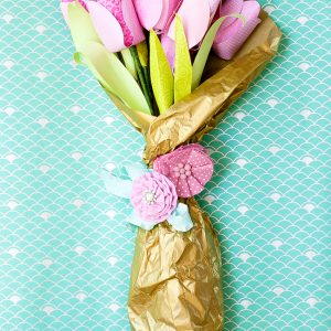 dove mothers day DIY paper flower tulip bouquet