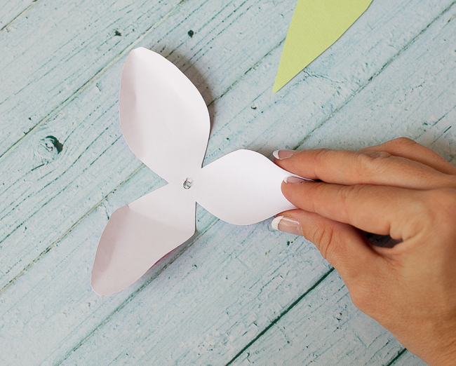 dove mothers day DIY paper flower tulip curling