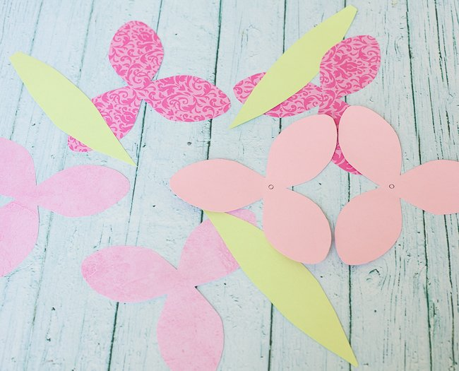 dove mothers day DIY paper flower tulip cut out flowers