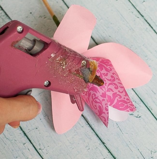 dove mothers day DIY paper flower tulip glue second petals