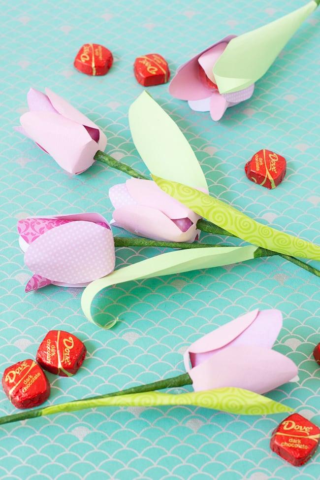 dove mothers day DIY paper flower tulip s