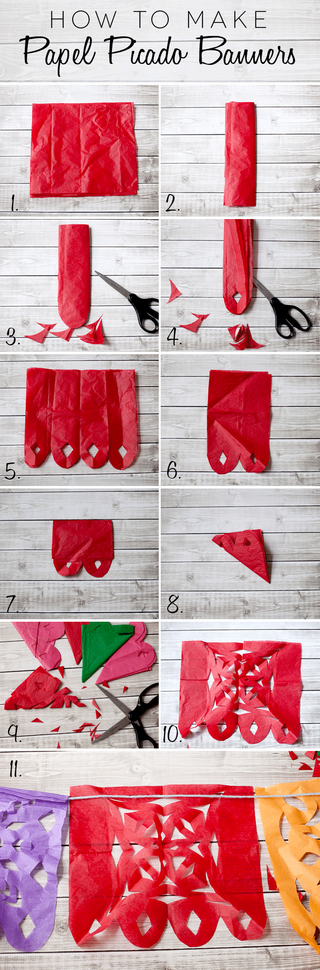 Papel Picado banner tutorial and how to