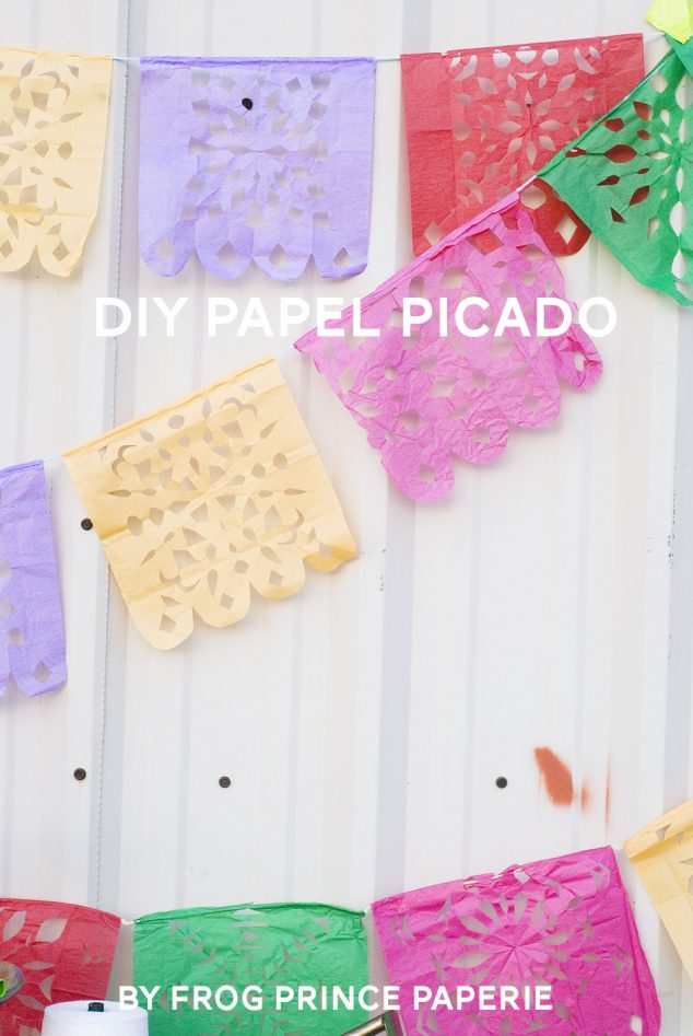 Papel picado mexican paper flag DIY