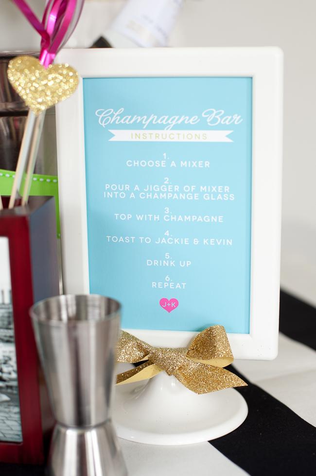 champagne bar bridal shower 15