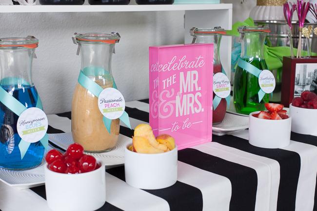 champagne bar bridal shower wedding