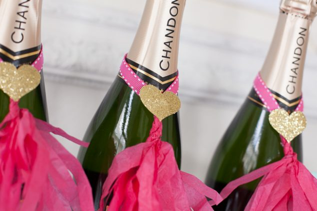 Champagne Bar Champagne Bottles #wedding