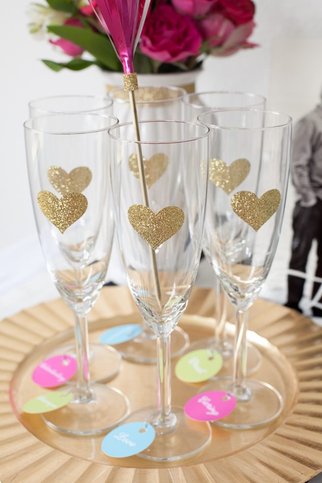 Champagne Bar Engagement Party Glasses