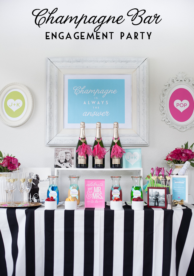 Champagne Bar Engagement Party #wedding