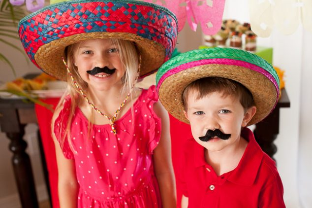 cinco de mayo kids party ole mustaches