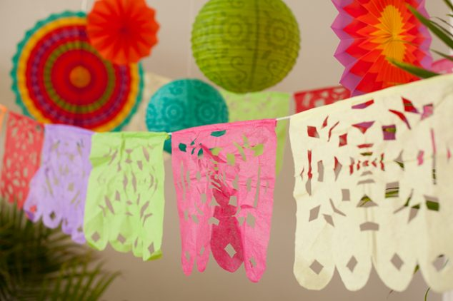 cinco de mayo kids party papel picado