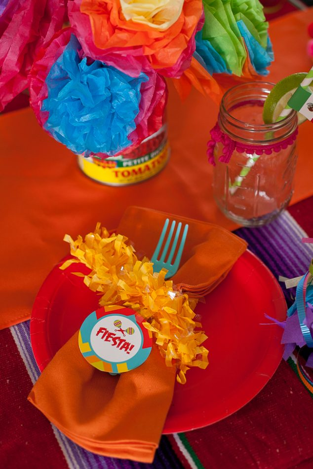 cinco de mayo kids party place setting
