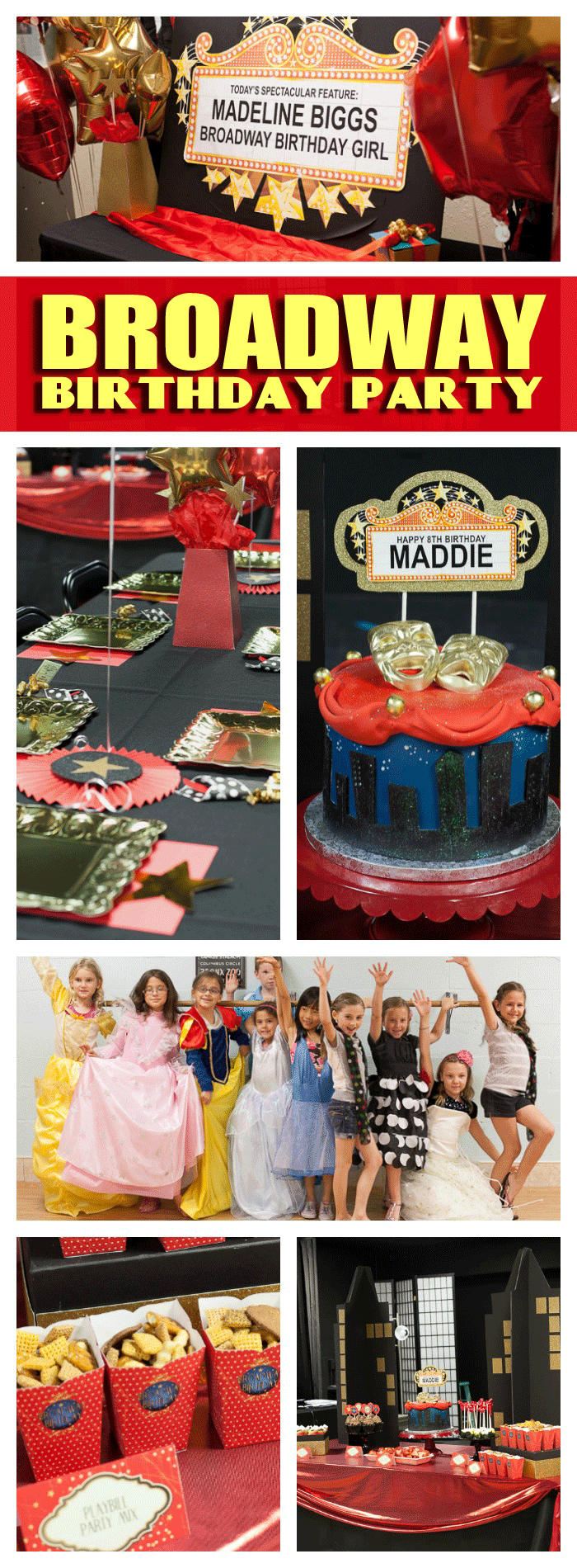 Broadway Birthday Party Ideas