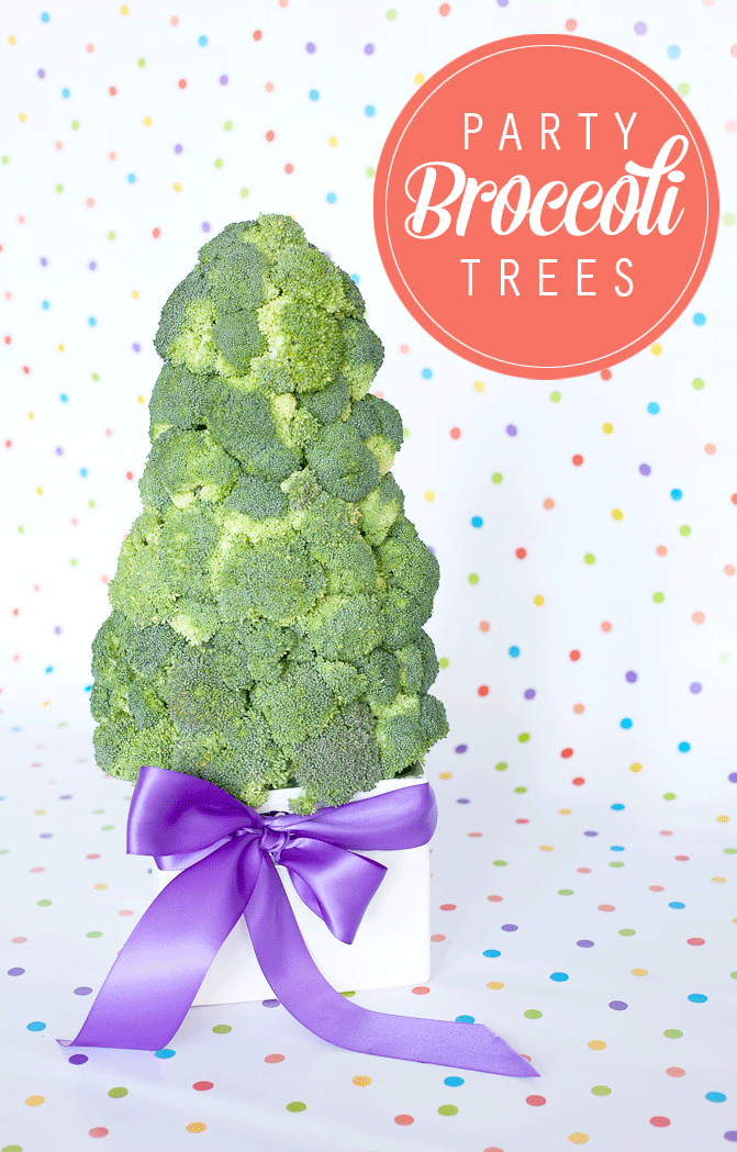 How to make a broccoli tree for your next party! #partyfood