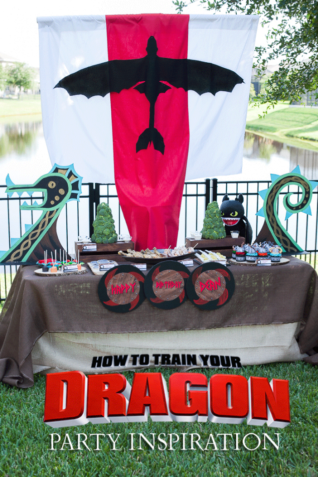 How to Train Your Dragon Birthday Party Inspiration #dragons #party