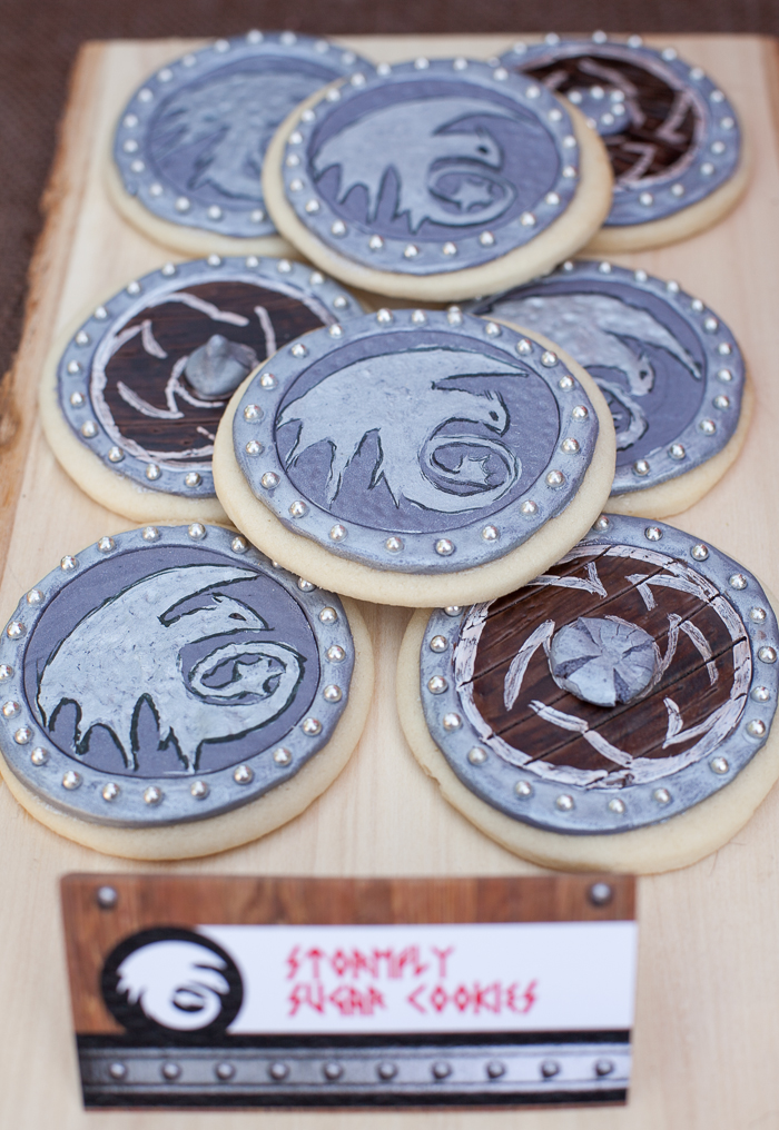 how to train your dragon party sugar cookies