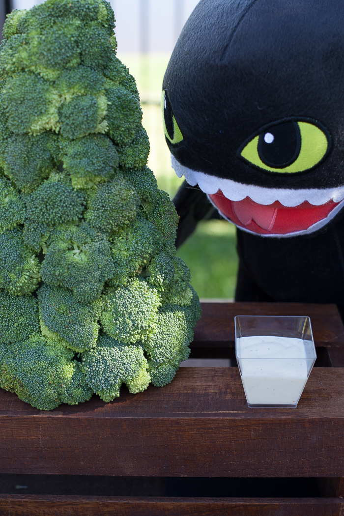 How to Train Your Dragon broccoli trees #viking #dragon #party