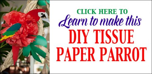 Click to learn how to make a DIY Tissue Paper Parrot