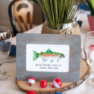 Watercolor Fishing Baby Shower