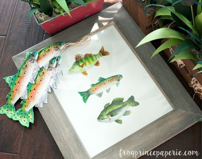 Fishing baby shower guest book picture