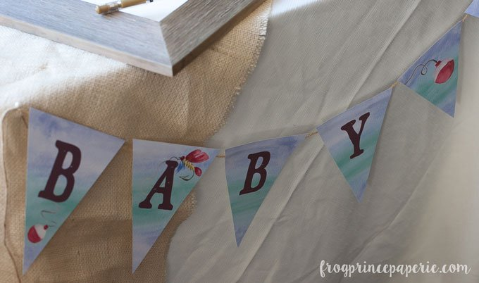 Fishing Baby Shower banner