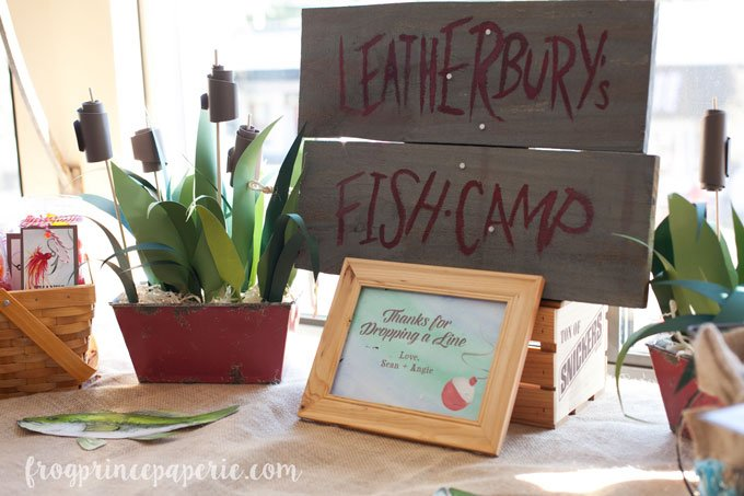 Fishing Baby Shower fish camp sign