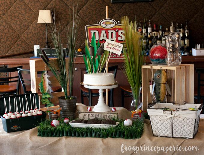 Fishing baby shower dessert table