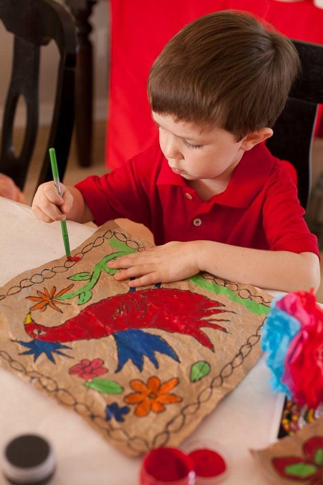 cinco de mayo kids party amate paint