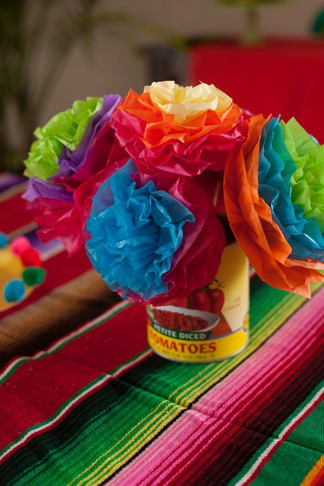 cinco de mayo kids party paper flowers