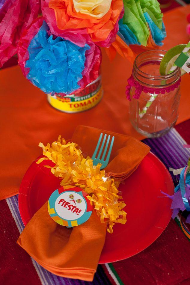 cinco de mayo kids party place setting