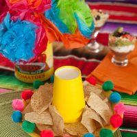 Cinco de Mayo party decoration: DIY Sombrero Chip Platter