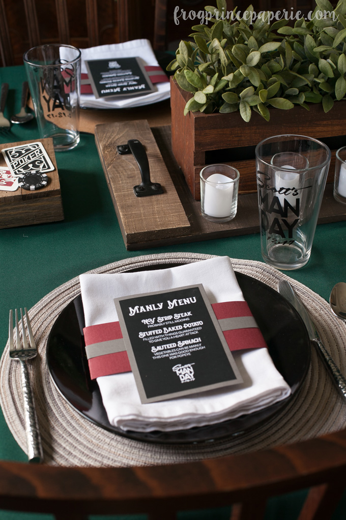 Clean bachelor party ideas - include a steak dinner in there for the manly men!