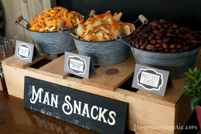 Clean bachelor party ideas: man snacks