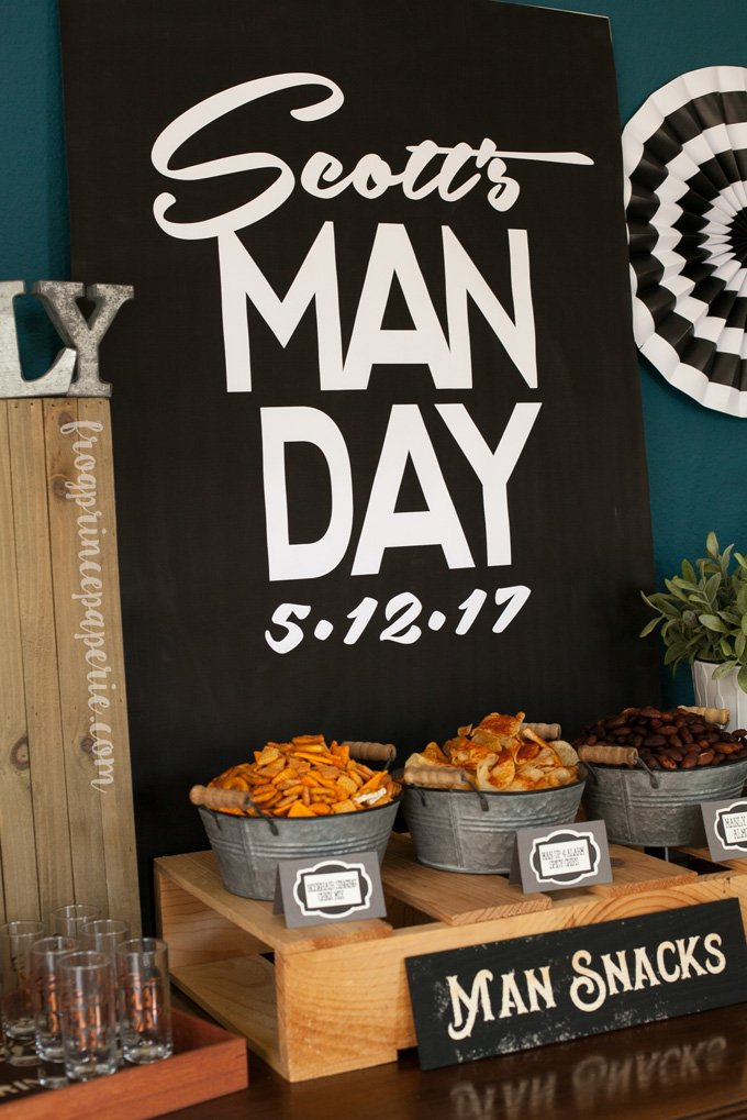 Clean bachelor party ideas - logos make the event feel more important!