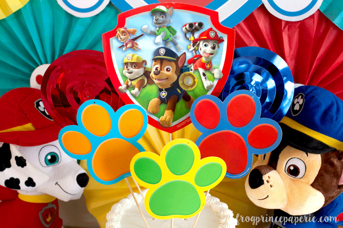 Paw patrol party cake topper for birthdays
