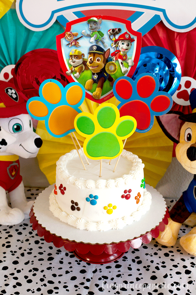 Paw patrol party cake topper ideas for birthdays