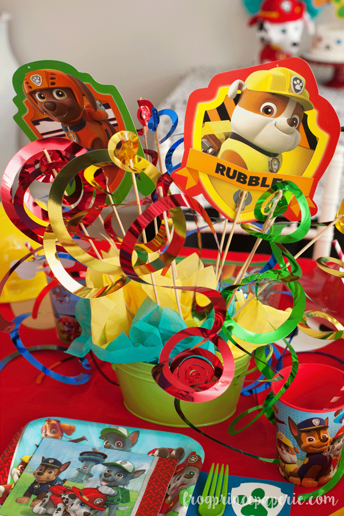 Paw patrol party centerpiece ideas for birthdays