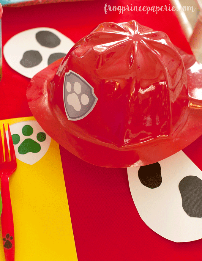 Paw patrol party ideas - Marshall fireman hat DIY idea!