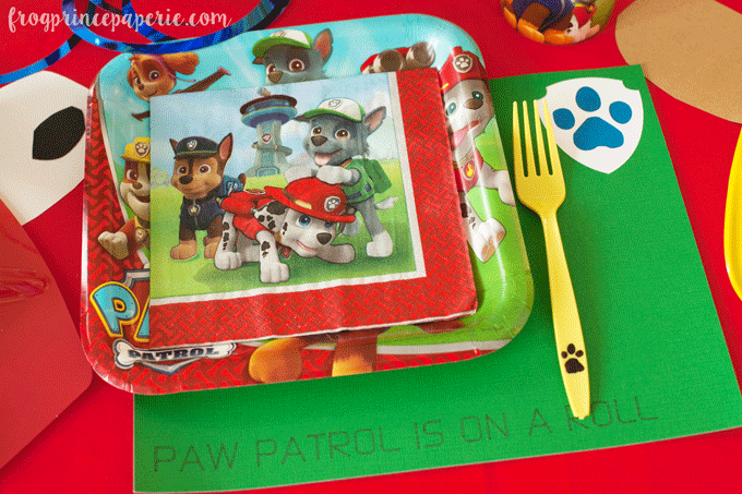 Paw patrol party ideas for place settings