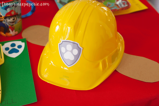 Paw patrol party ideas for birthdays - Rubble Construction hat DIY