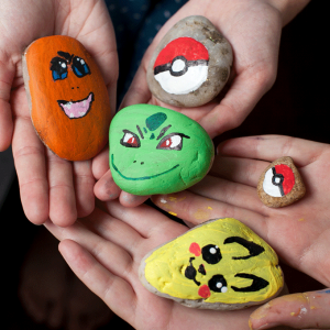 Pokemon Painted Rocks – Summer Kid Craft Project