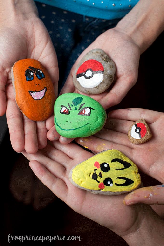Pokemon Painted Rocks – Summer Kid Craft Project