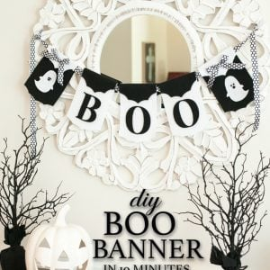 DIY Boo Banner in 10 Minutes